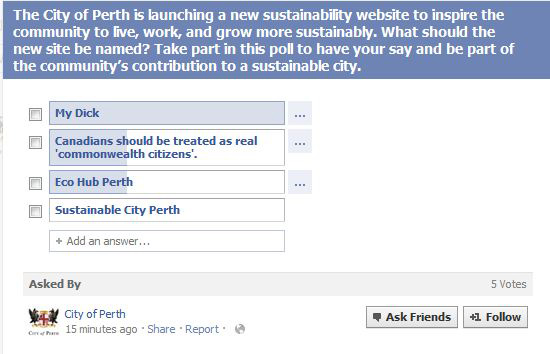 City of Perth sustainability website